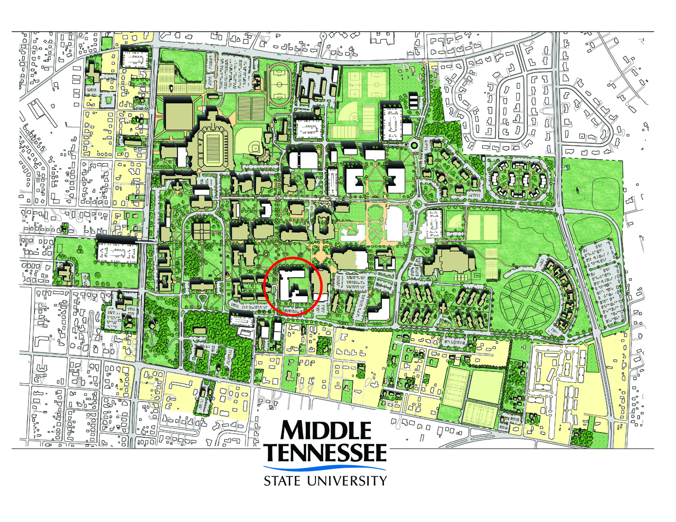 MTSU Science Building on Campus Planning Map – MTSU News