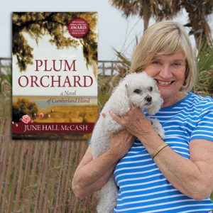 "Dr. June Hall McCash promo with ""Plum Orchard"" cover"