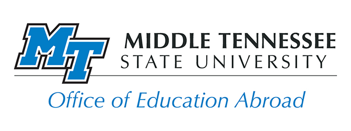 Office of Education Abroad logo; study abroad; http://mtsu.studioabroad.com