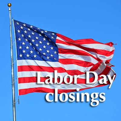 MTSU will be closed for Labor Day.