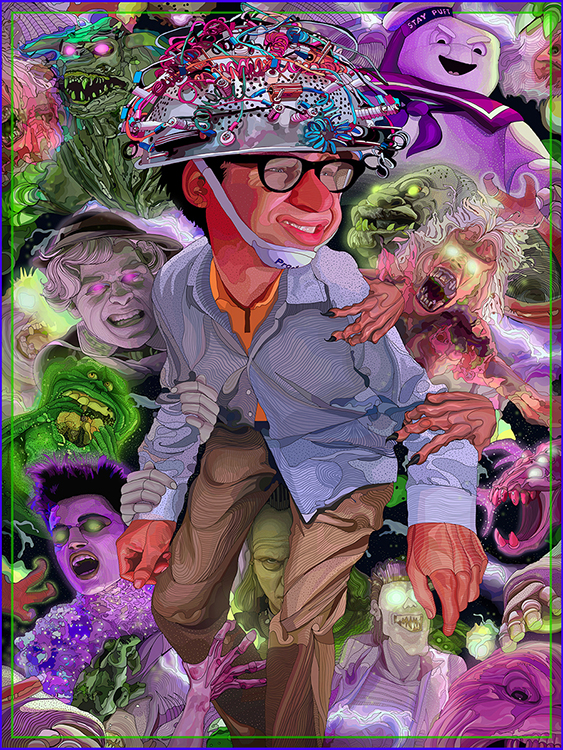 """Ghostbusters Ghost Cluster,"" a digital image created by MTSU art professor Tony Rodriguez with a Wacom tablet and Photoshop software for the Printed In Blood ""Ghostbusters: Artbook,"" is part of a faculty art exhibit set to open Aug. 24 in the university's Todd Art Gallery. Rodriguez is one of more than 20 faculty members whose work will be showcased in the free public exhibit, ""Biennial 2020: A Faculty Exhibition of Art and Design."" (Image courtesy of the artist)"