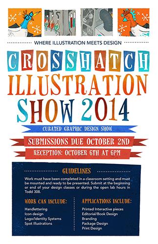 Crosshatch 2014 exhibit poster