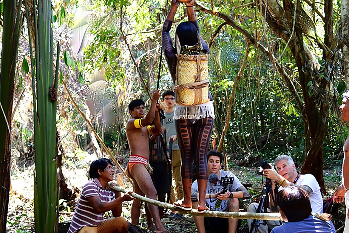 MTSU faculty and students work alongside indigenous Kayapó filmmakers in the Brazilian rain forest to film the descent of the Star Goddess to Earth as part of a July 2019 study-abroad project that helped the filmmakers receive a grant from the National Geographic Society for an expanded effort,