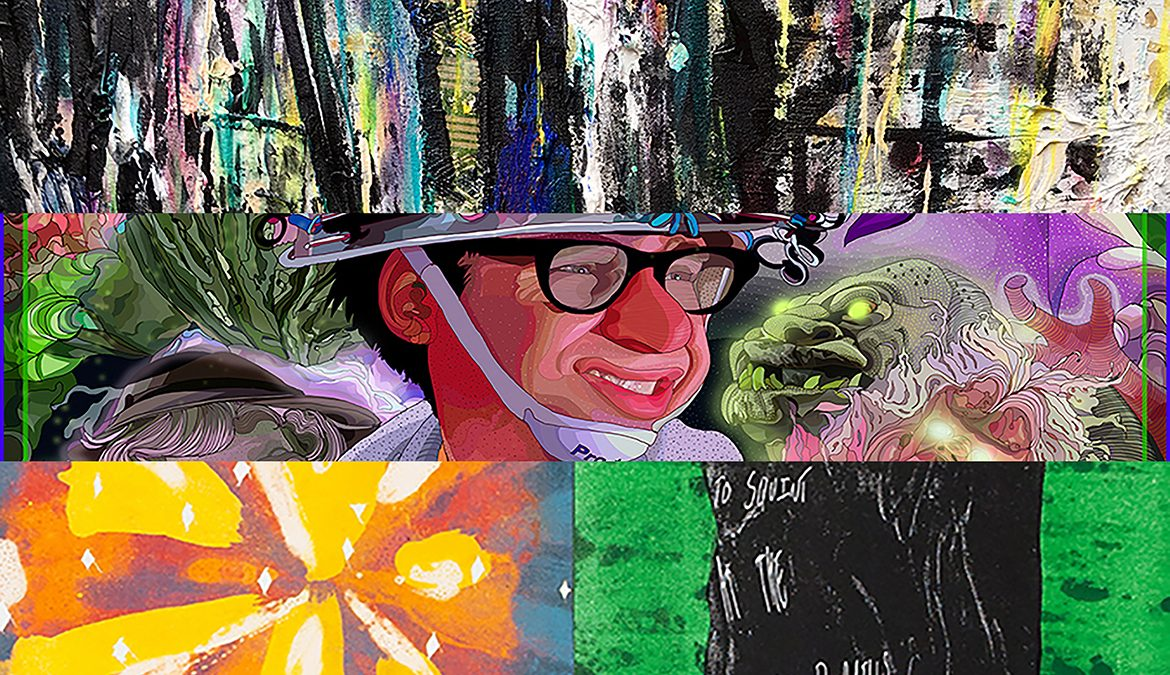 Works created by MTSU art professors Sisavanh Phouthavong-Houghton, top; Tony Rodriguez, center; and Nick Satinover, below; are included in a free public exhibit,