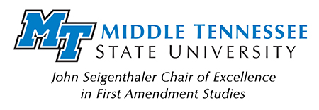 Seigenthaler Chair of Excellence in First Amendment Studies logo