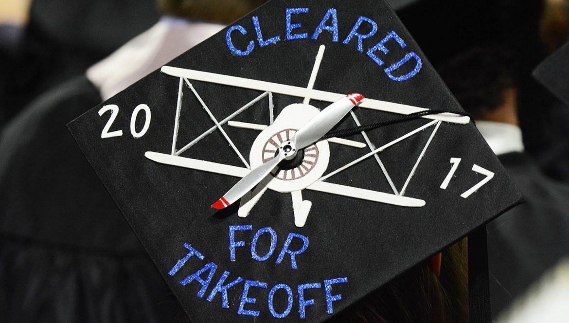 photo of spring 2017 MTSU student graduate's mortarboard with
