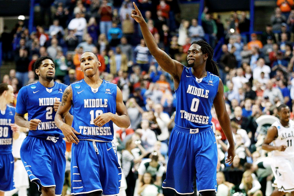 MTSU stuns Michigan State in 2016 NCAA Men's Basketball Tournament March Madness