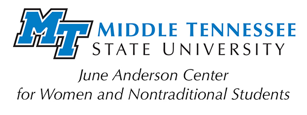 logo for MTSU's June Anderson Center for Women and Nontraditional Students