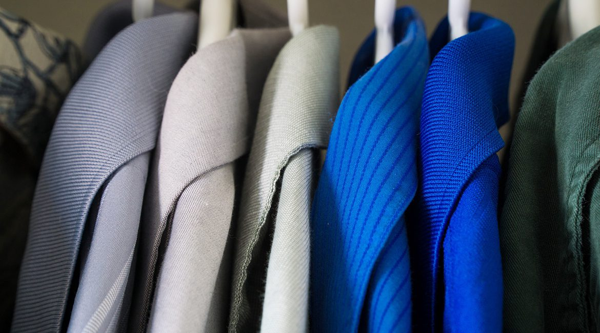 photo illustration for MTSU's Raiders' Closet organization, which collects new and gently used professional clothing for students to wear to job interviews and new jobs