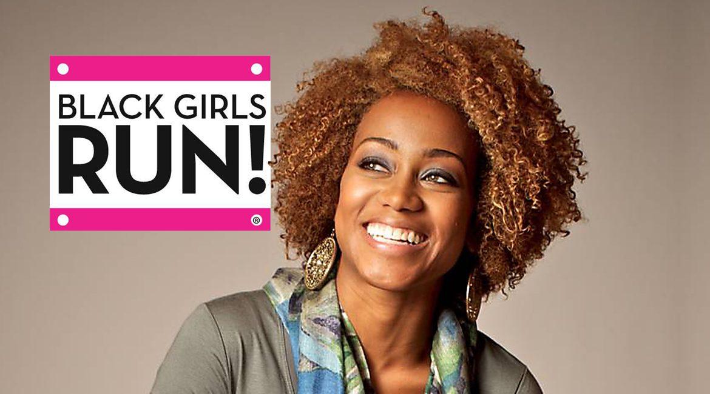 MTSU alumna Ashley Hicks-Rocha shown with the Black Girls RUN! logo