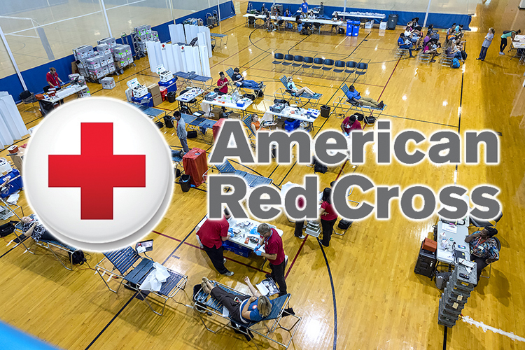 This 2016 file photo shows the crowd of donors and American Red Cross workers at an MTSU blood drive inside the Campus Recreation Center. MTSU's first blood drive for fall 2017 is set for Monday, Sept. 11, in the Tennessee Room of the James Union Buidling. (MTSU file photo by J. Intintoli)