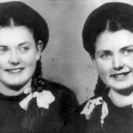 Auschwitz survivors Eva Mozes Kor, left, and her identical twin sister, Miriam Mozes Zieger, are shown in 1949 in Romania, four years after Soviet troops liberated the concentration camp where they were held captive and subjected to scientific experimentation from 1944 to 1945. (Photo submitted)