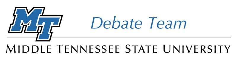 MTSU Debate Team logo