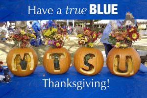 MTSU students, faculty, staff will observe Thanksgiving holiday break