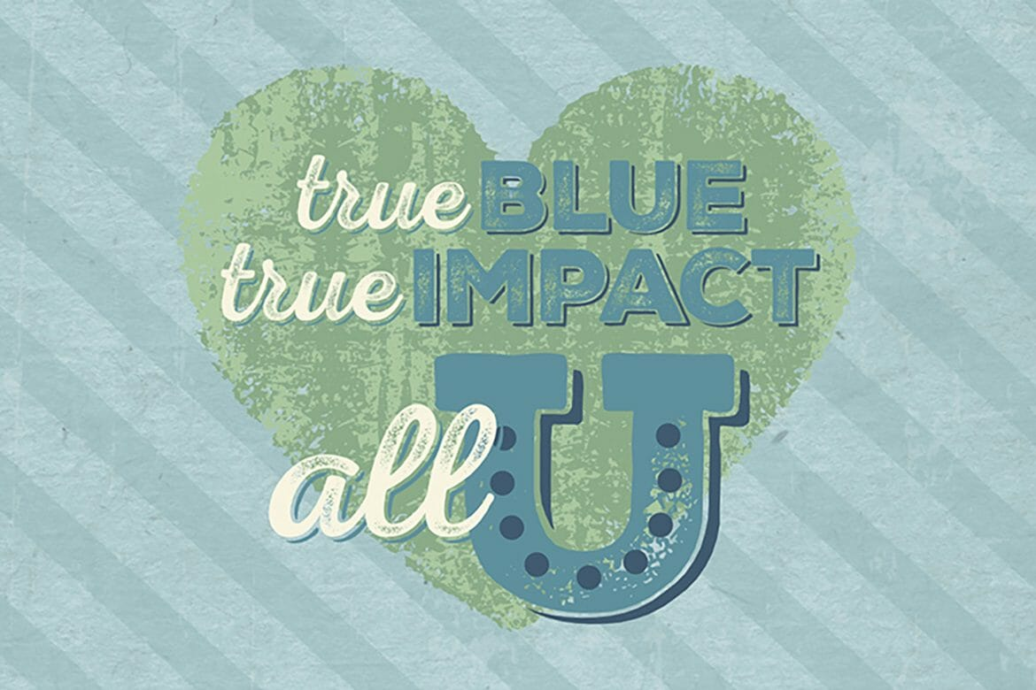 True Blue Give Impact large graphic