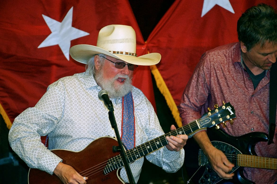 Country Music Hall of Fame member Charlie Daniels performs in June 2018 during the first Veteran Impact Celebration at The Grove at Williamson Place. Daniels is scheduled to be a part of the event, which will be held Thursday, June 27. (MTSU file photo by J. Intintoli)