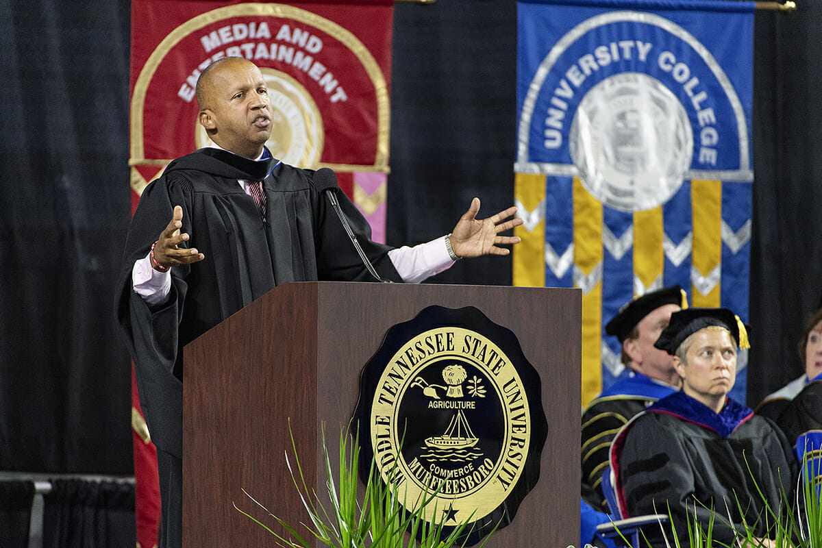 MTSU Convocation speaker Bryan Stevenson