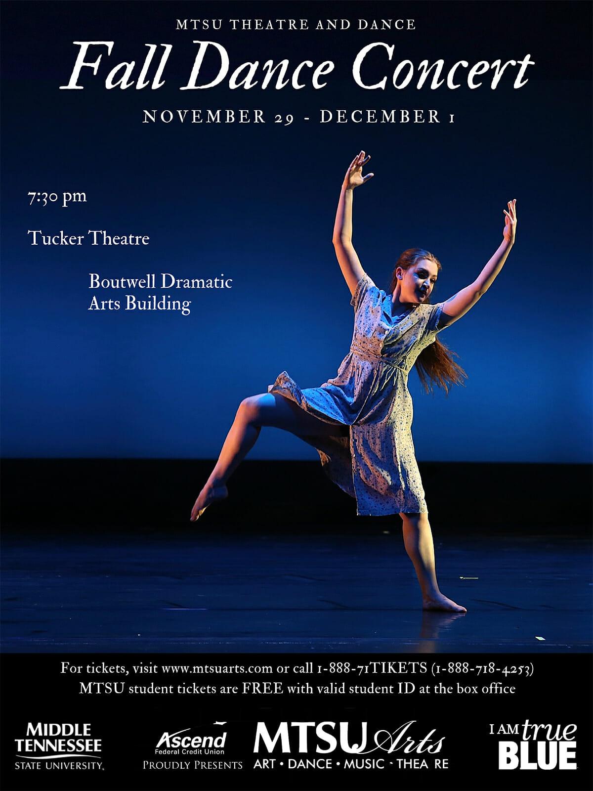 Fall Dance Concert 2018 poster