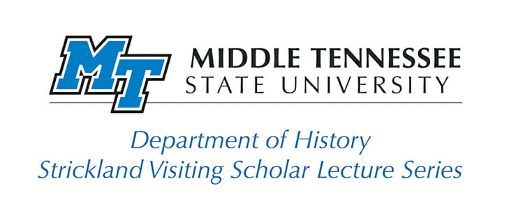 MTSU Strickland Visiting Scholar Lecture Series logo (including Department of History)