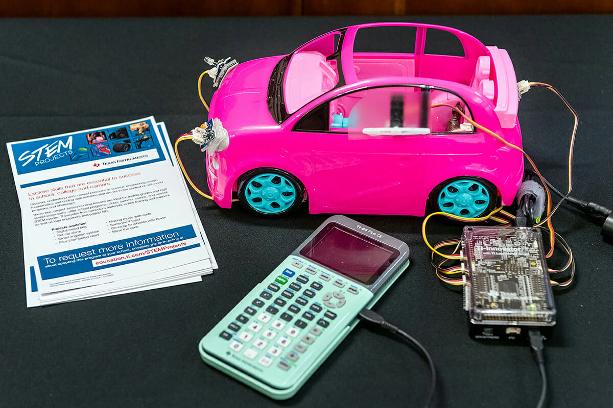 Texas Instruments high-tech gadgets and gizmos on display