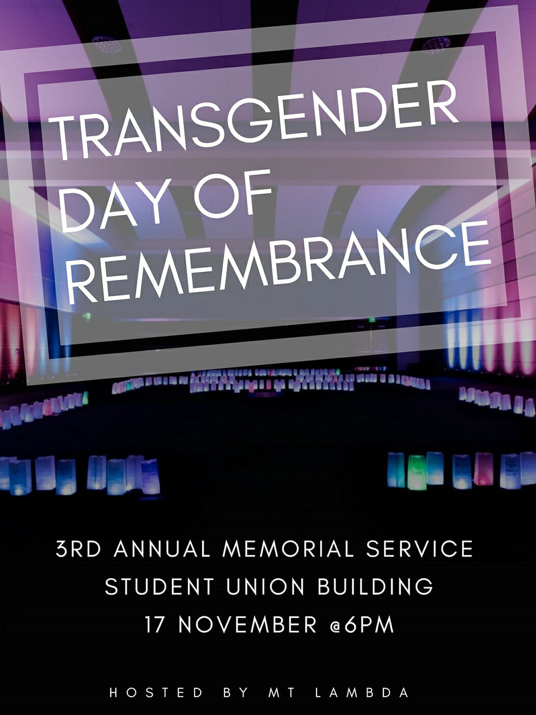 Transgender Remembrance Day 2018 poster
