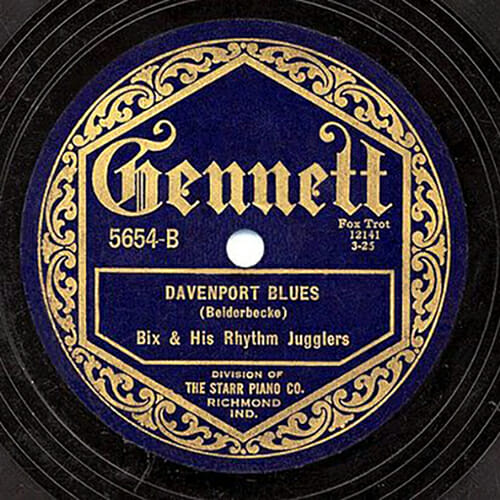 "Gennett Records, the label created by the Indiana-based Starr Piano Co., captured this 78 rpm recording of ""Davenport Blues,"" written and performed by jazz great Bix Beiderbecke, in 1925. MTSU recording industry professor Charlie Dahan will discuss the Gennett Records story on the Dec. 11 and Dec. 16 editions of ""MTSU On the Record"" on WMOT-FM Roots Radio 89.5."