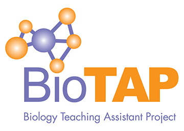 logo for BioTAP (Biology Teaching Assistant Project), a research coordination network funded by the National Science Foundation