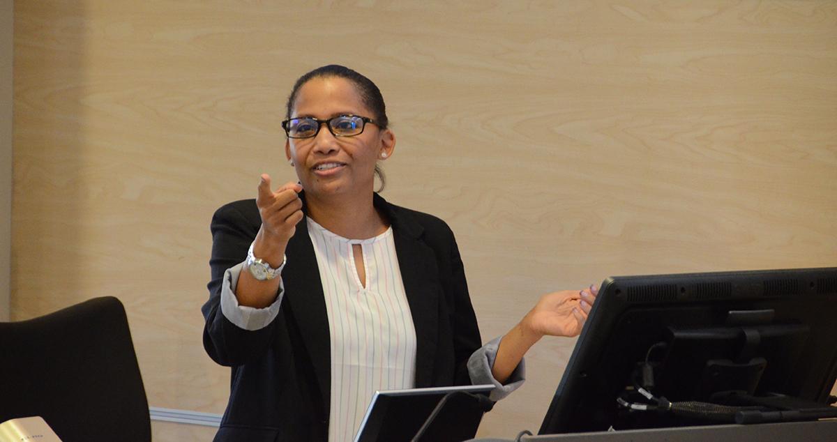 Katrece Holland makes her MSPS presentation
