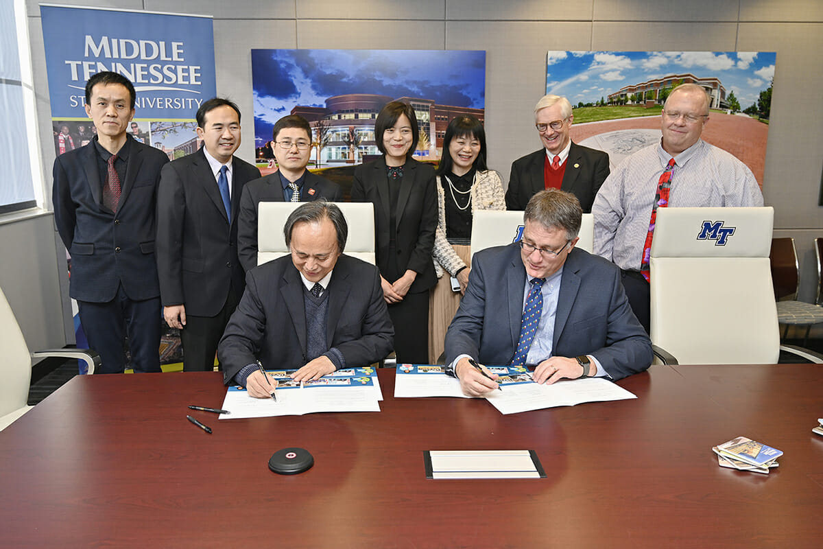 MTSU, Guangxi sign medicinal research agreement