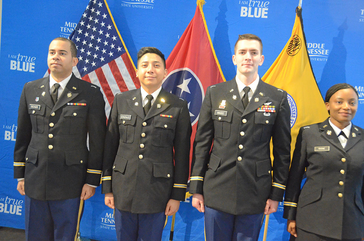 MTSU's newly commissioned second lieutenants.