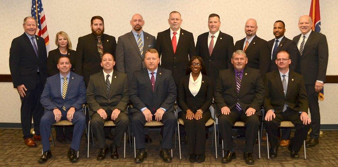 The members of the Nov. 1, 2018, graduating class at the Tennessee Bureau of Investigation State Academy