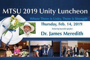Civil rights trailblazer Meredith headlines MTSU's Feb. 14 Unity Luncheon honoring 5 'unsung heroes'