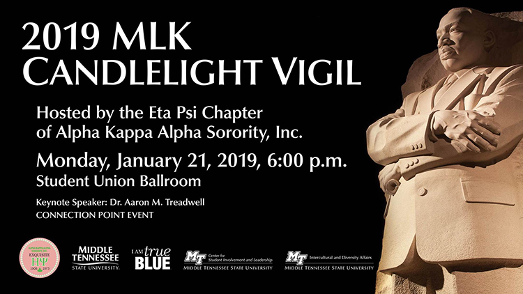 MTSU MLK 2019 vigil graphic created by CVS