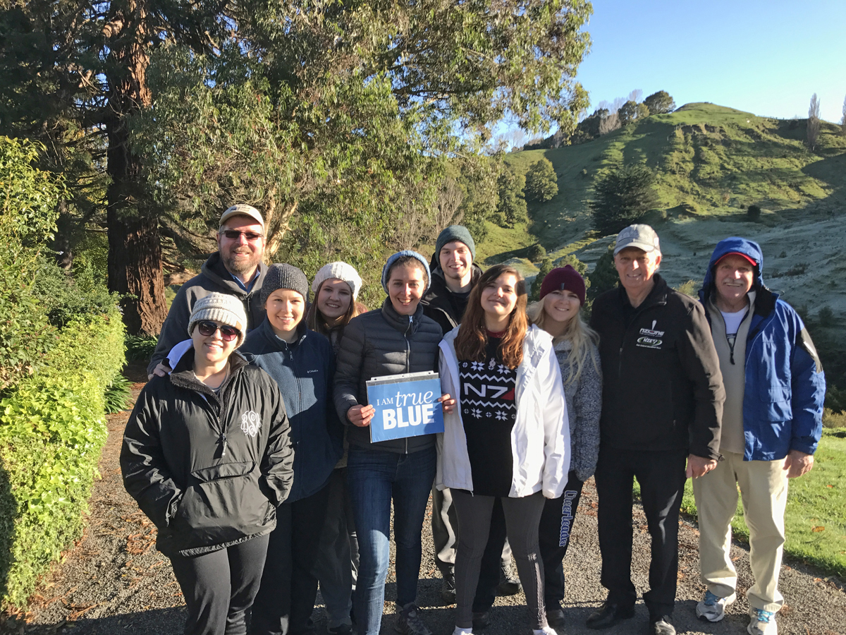 MTSU students on an education abroad trip to New Zealand in 2017.