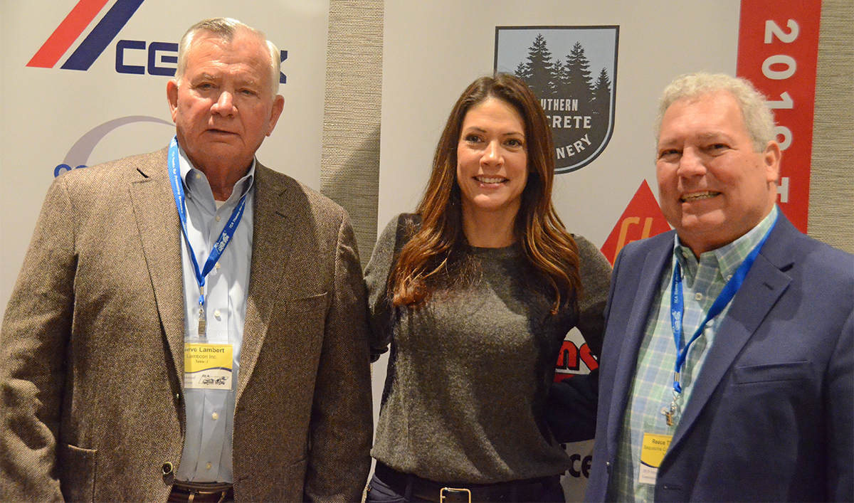 Steve Lambert, Heather Brown and Reese Thomas are 2019 'TN Concrete Association Lifetime Hall of Fame inductees.