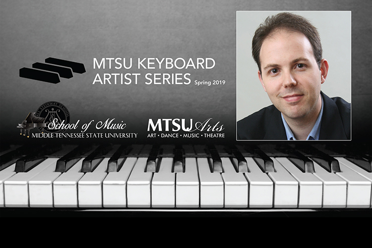 Promo for spring 2019 Keyboard Artist Series concert featuring Dr. Adam Clark