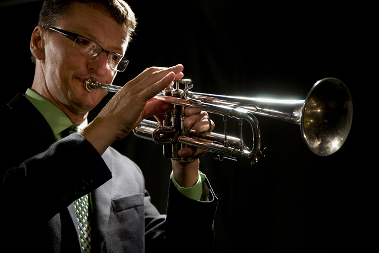 MTSU faculty member Jamey Simmons, trumpeter and composer. (Photo courtesy of Jamey Simmons)