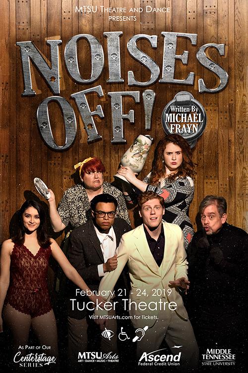 """MTSU Theatre """"Noises Off!"""" publicity poster"""
