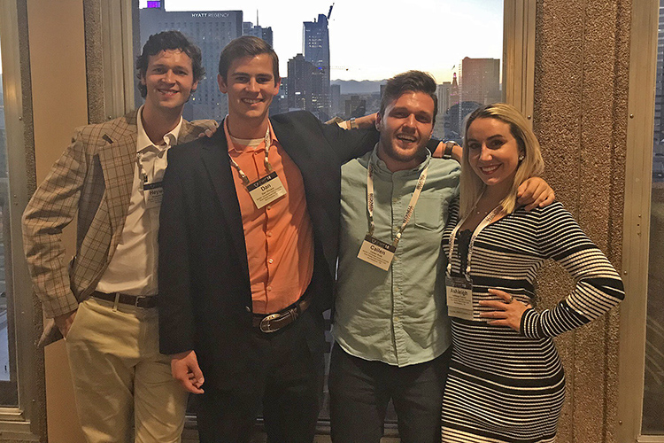 Some members of MTSU's Blue Raider Real Estate Club attended the the Society of Industrial and Office Realtors fall conference held in October in Denver, Colo. Pictured, from left, are Heyward Rogers, Daniel Vincent, Cailen Roth and Ashleigh Turner. (Submitted photo)