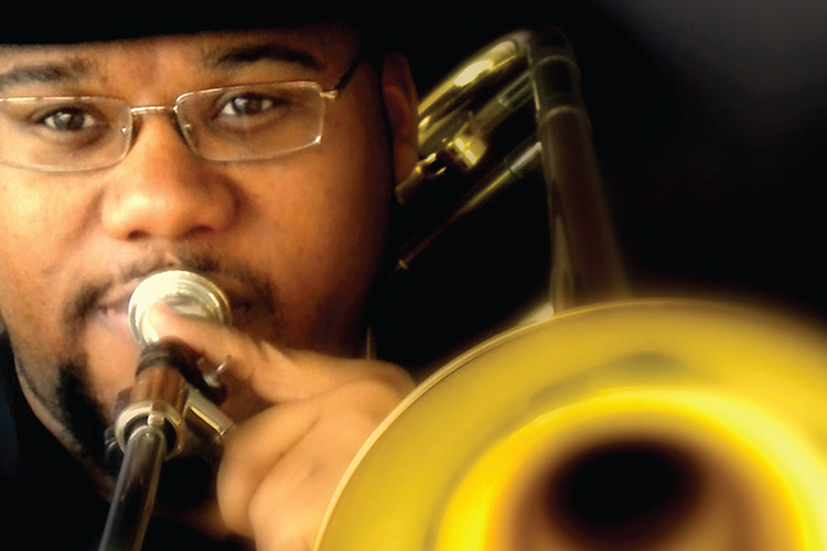 Trombonist Roland Barber, a mainstay of the Nashville jazz scene, will share his knowledge with students on Saturday, March 16, at MTSU's annual Illinois Jacquet Jazz Festival, then perform with MTSU's Jazz Ensemble II in a free concert at noon Saturday in the university's Wright Music Building's Instrumental Rehearsal Hall. (Photo submitted)