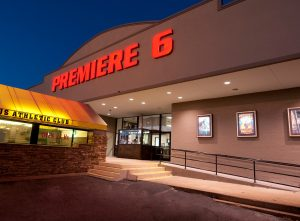 Premiere 6 movie theater at night