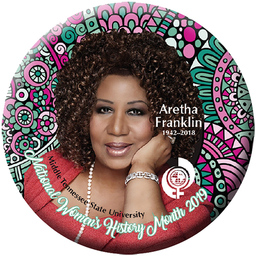 Aretha Franklin 2019 NWHM button