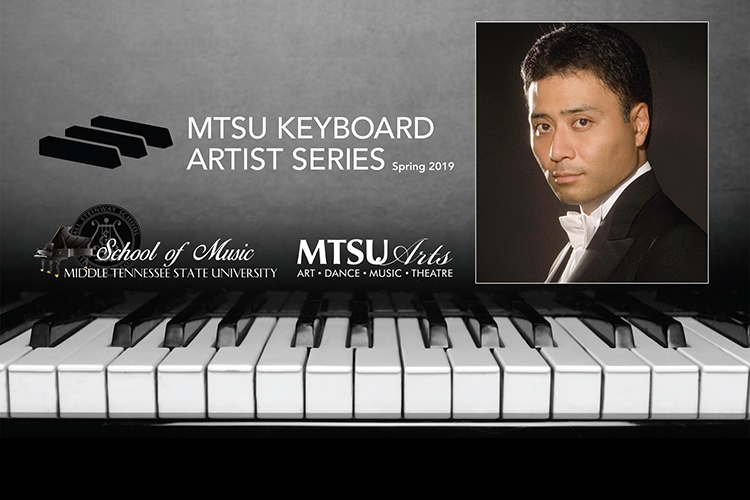 Promo for Jon Nakamatsu's March 29 concert closing the fourth season of the MTSU School of Music's Keyboard Artist Series in Hinton Hall inside the Wright Music Building.