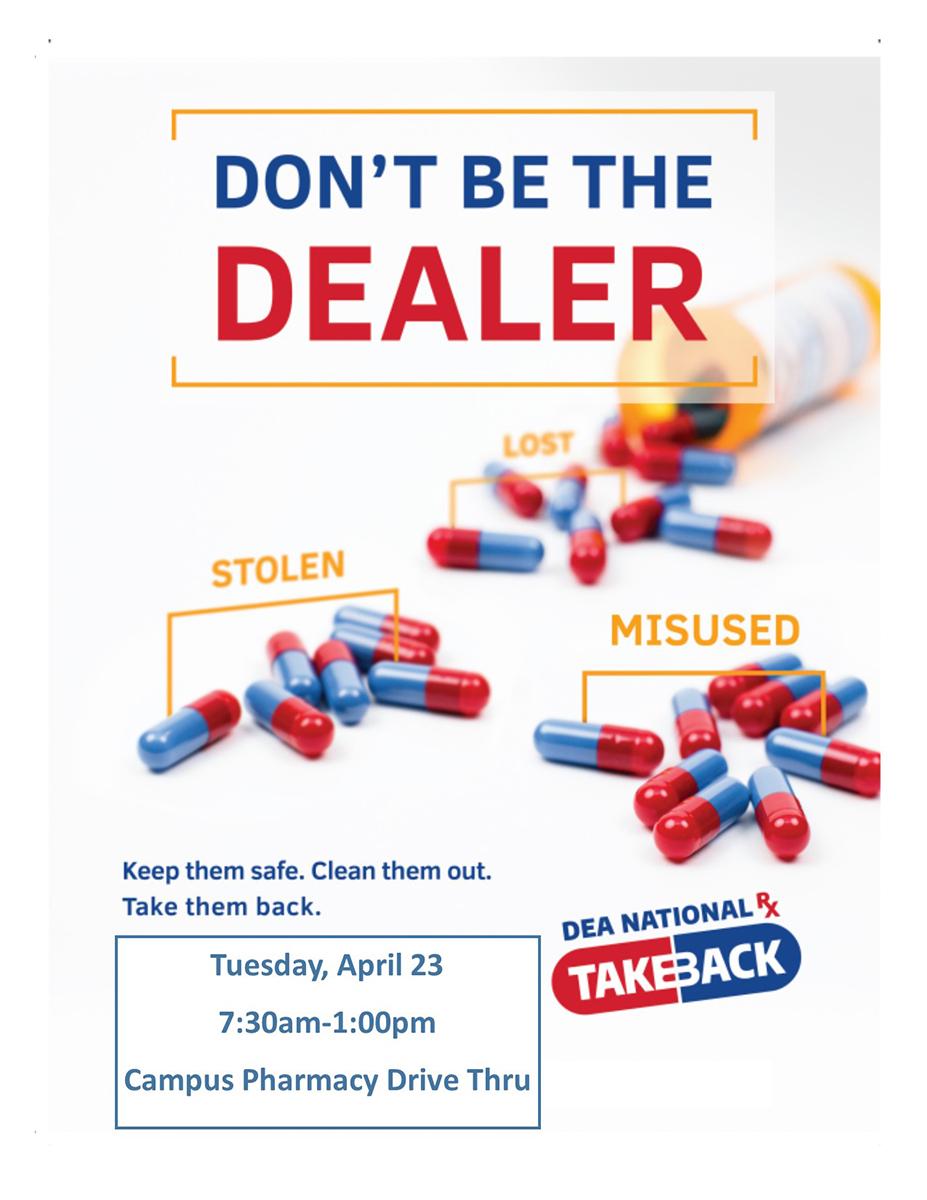 Spring 2019 drug take-back day flyer