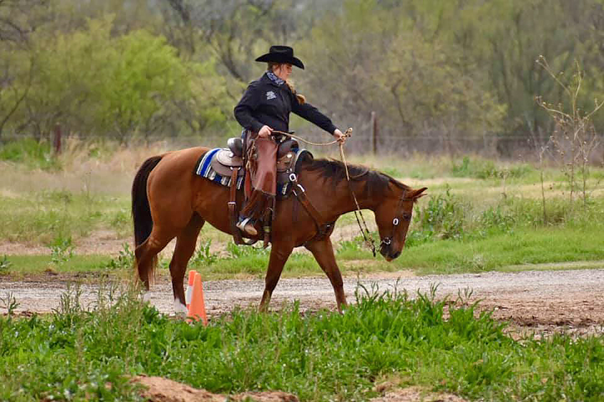 Senior Kylie Small of Dallas, Ga., rode BC Pennys from Tari to Reserve Champion (second place) in the Novice Reserve category.