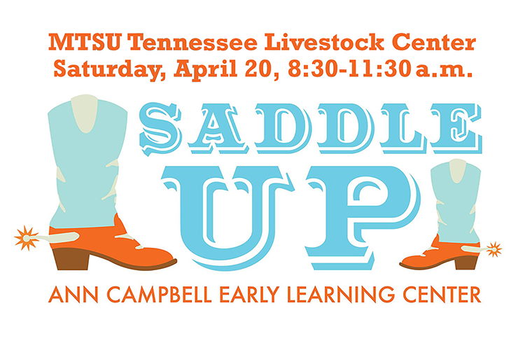 "MTSU Ann Campbell Early Learning Center ""Saddle Up"" 2019 graphic"