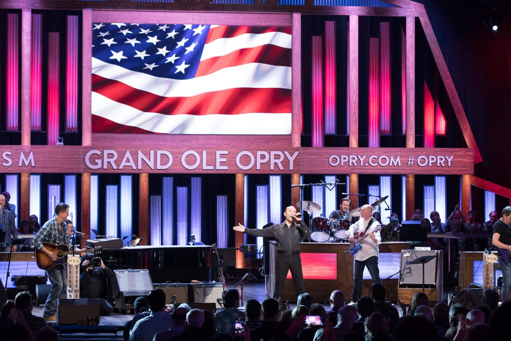 Country music singer Lee Greenwood at Opry