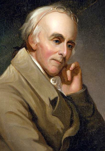 Dr. Benjamin Rush, shown in this 1818 oil painting by Charles Willson Peale, was a signer of the Declaration of Independence and wrote character sketches of his 18th-century colleagues that are the focus of a new book by MTSU Honors College Dean John R. Vile.