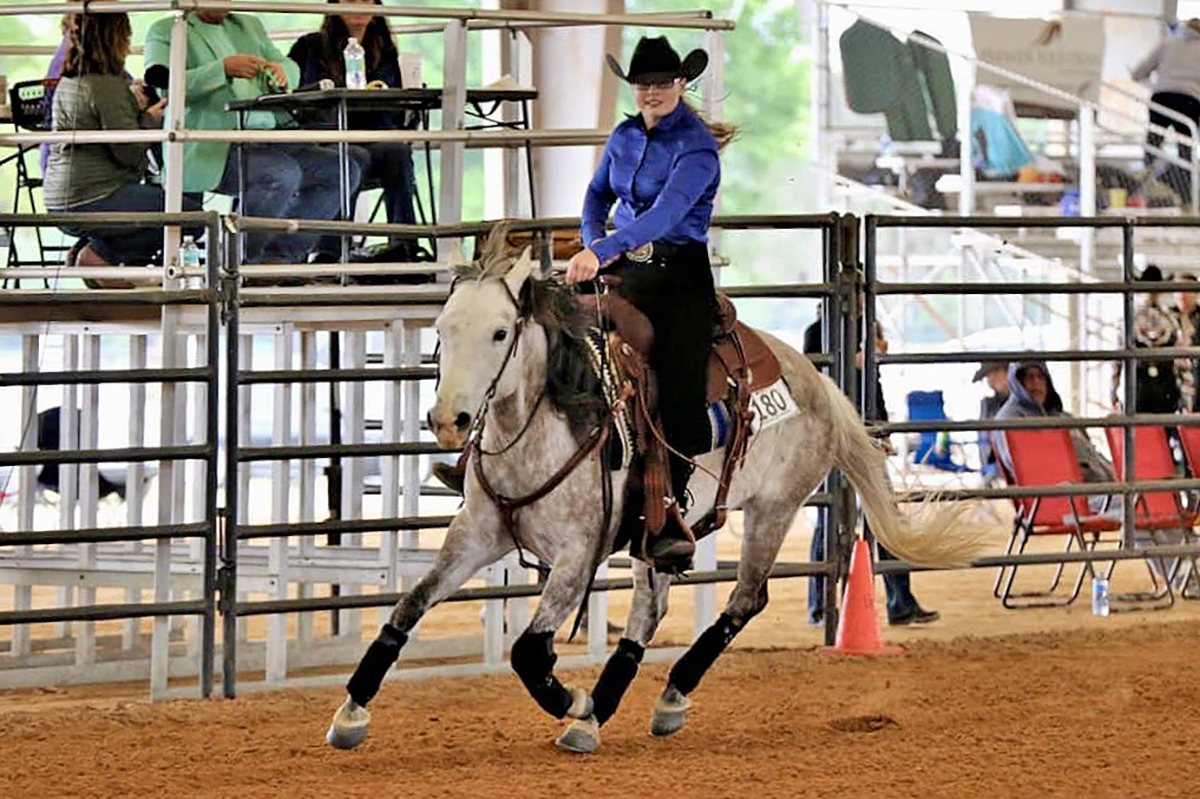MTSU IHSA nationals qualifier Jenna Seal of Meridian, Miss., will compete in Western Open Reining at the May 2-5 event in Syracuse, N.Y.