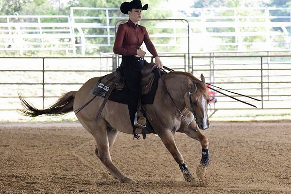 MTSU junior Mary Catherine Wade of Memphis, Tenn., will be a competitor in Western Open Reining at the IHSA national competition in Syracuse, N.Y., May 2-5. She earned a berth by placing second in the regionals.
